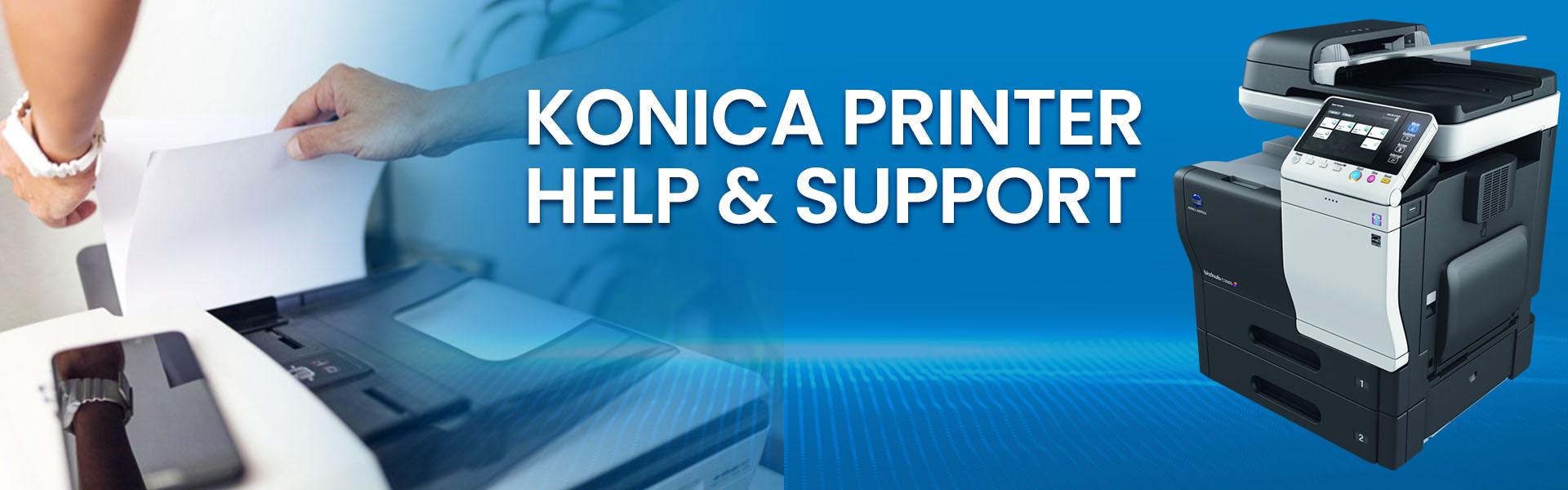 konica printer help-support