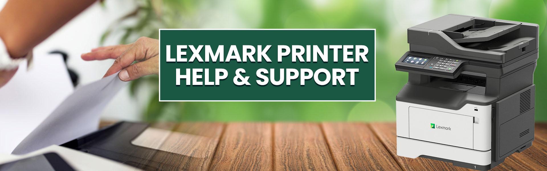 lexmark printer help support